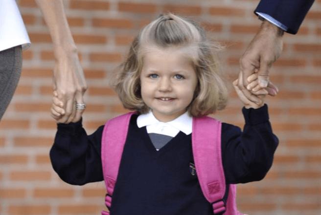 primer dia colegio leonor