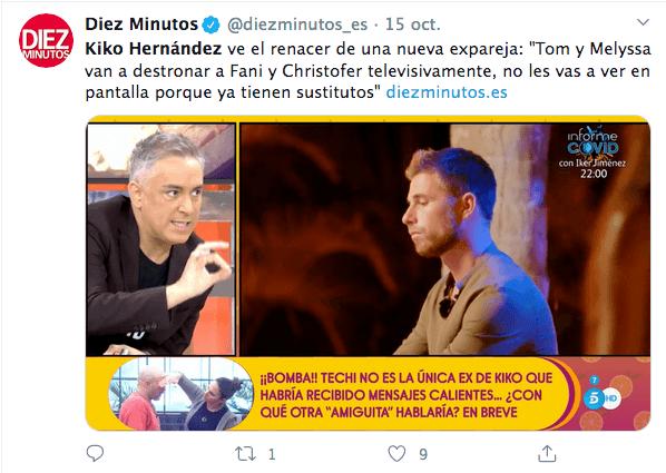 Kiko Hernández confiesa que es asexual