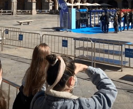 Plaza Mayor de Salamanca se llenó de curiosos