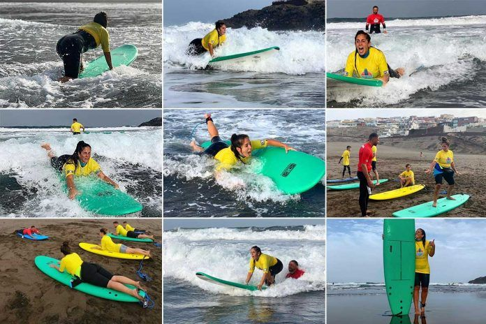 anabel pantoja surfing