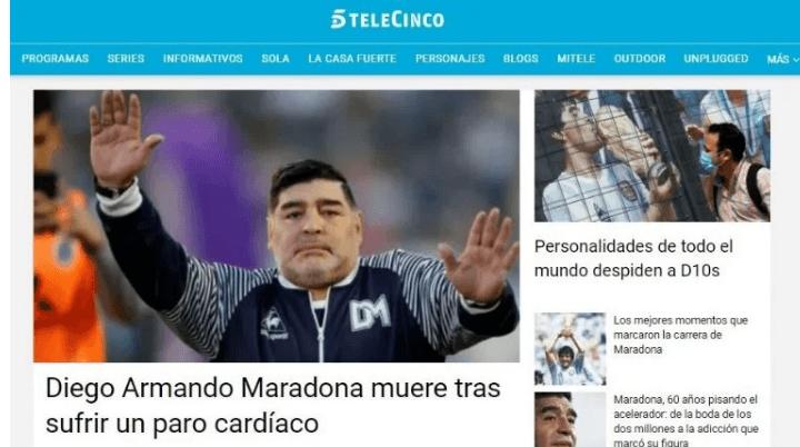 Maradona en Telecinco